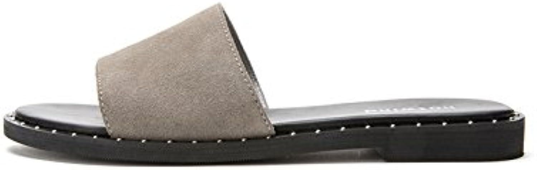 DHG DHG DHG Sandali estivi, Pantofole da donna alla moda, Sandali piatti casual, Sandali con tacco basso a tacco basso... | Modalità moderna  | Scolaro/Signora Scarpa  28c58c