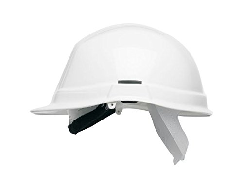 Scott Safety HC710/W/CSB Tuffmaster II Ratchet Helmet with Terry SB, Standard Peak, Unvented, Predrilled for 4 Point Bifurcated Chinstrap, White