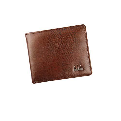Unisex Kurz Clutch Goosun Männer Währung Grafik Bifold Geschäft Klein Vintage Leder Brieftasche Mit Vielen Kartenfächern Brieftasche Portemonnaie Geldbeutel Portmonee Pockets