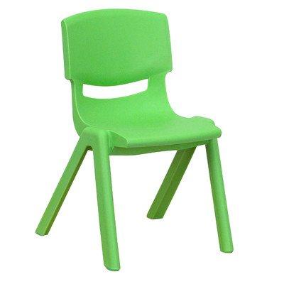 Plastica classroom chair set da 2pezzi, colore: verde, altezza seduta: 31,1cm