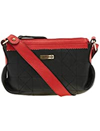 ESBEDA Black Solid Pu Synthetic Material Handbag For Women