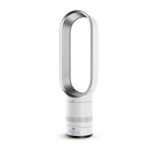 HYXL Raffreddatore d'Aria,Ventilatore Senza Pale Radiatore Aria,Ioni Negativi Sicurezza Ventilatore a Torre Umidificatore,Ventilatore Muto-Silver 20x66cm(8x26inch)