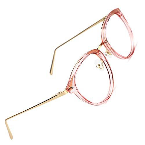 TIJN Rund Brille Ohne Sehstärke Brillengestelle Damen Brillenfassung Fake Brille Ohne Stärke für Herren