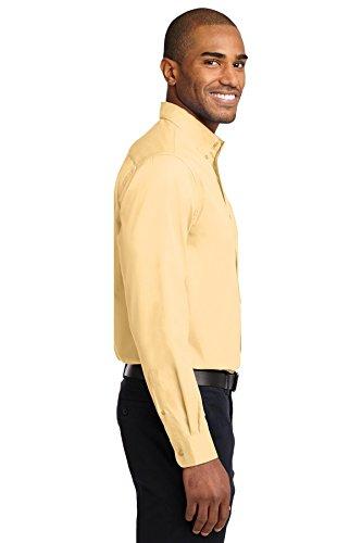 Port Authority da uomo altezza a maniche lunghe facili da pulire e maglietta Giallo