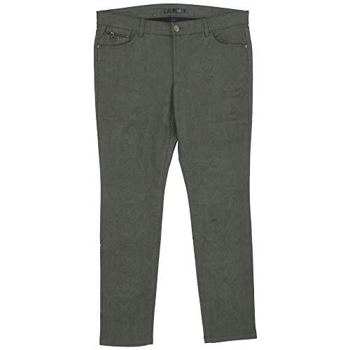 MAC JEANS, Carrie Pipe Pocket Zip, Damen Jeans Hose, Coated Stretchdenim, Khaki Snake Coated, D 46 Inch 36 L 30 [21709] Snake Pipe