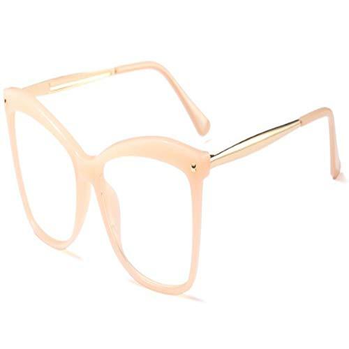 XCYQ Brillengestell Damen-Quadratische Glasrahmen-Mann-Frauen-Optische Art Und Weise Transparente Eyewear-Computer-Gläser, E
