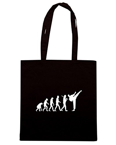 T-Shirtshock - Borsa Shopping TAM0034 evolution karate dark tshirt Nero