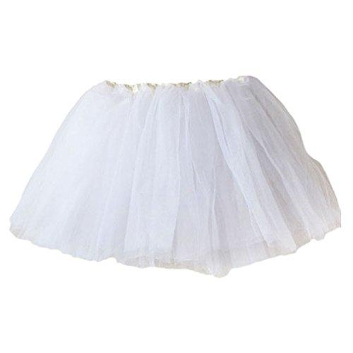 Vovotrade 2016 Mädchen-Prinzessin Pettiskirt Partei Ballettröckchen -Rock-Minikleid (Weiß)