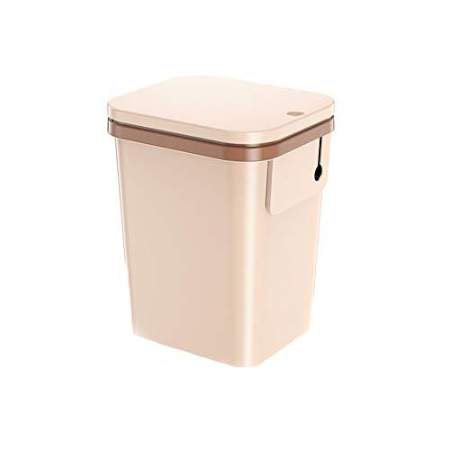 Kunststoff Mülleimer Mit Deckel, Deco Bin Küche WC Müll Büro Abfälle, 12l, Braun