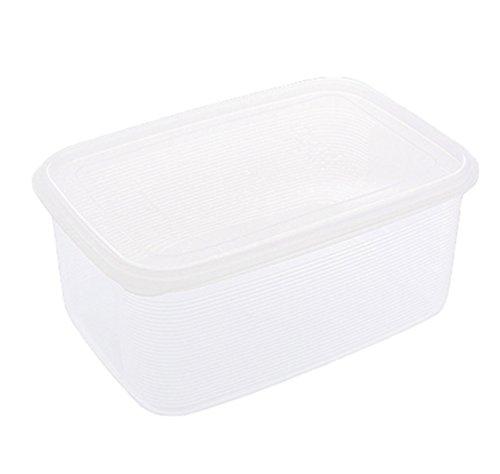 TenYid Plastikbox Groß, Luftdichte Box Aufbewahrungsbox mit Deckel, Stapelbar, Transparent, 15.5 L