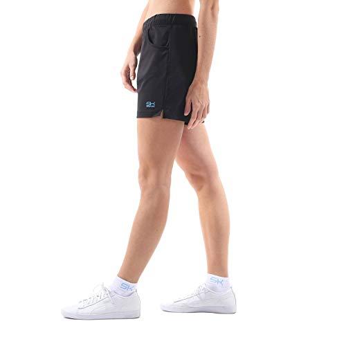 Sportkind Mädchen & Damen Tennis, Fitness, Bermuda Shorts, schwarz, Gr. 134