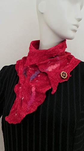 Kragen rot für Frauen - Kleiderkragen - Halskragen