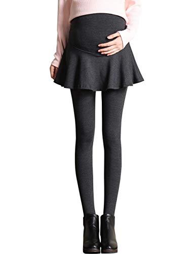 85180495b BESBOMIG Mujer Maternidad Vestir Falda Polainas Soporte de Vientre - Grueso  Más Terciopelo Pantalones Calentar Otoño