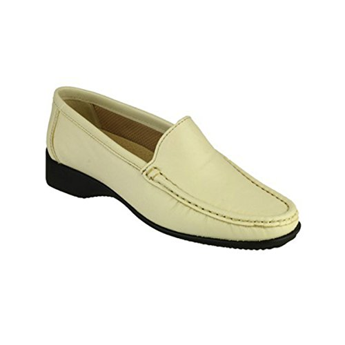 Cotswold Ladies Farmington Slip On Leather Summer Moccasin Brown Beige