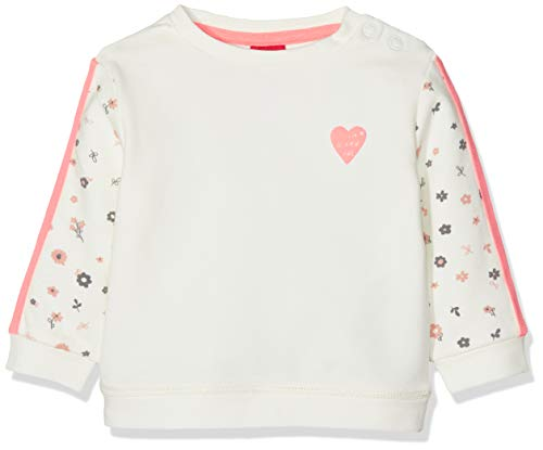 s.Oliver RED LABEL Junior Unisex - Baby Sweatshirt mit Neon-Details ecru 68