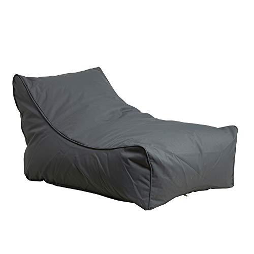 mokebo® 'Der Sundowner' Sitzsack Outdoor, Sonnenliege, Liegestuhl, Lounge Möbel Terrasse, Sitzkissen, Bean Bag, Made in Denmark, Farben:Anthrazit