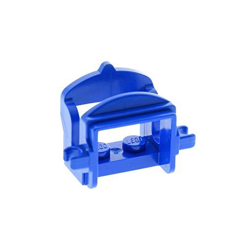 1 x Lego System Tier Pferd Sattel blau mit 2 Clips Pferdesattel Indianer Western Reiter Hof Castle Ritter 4491b