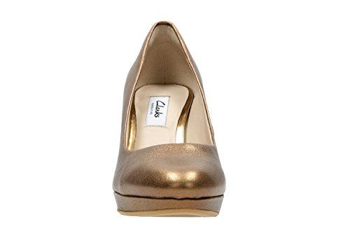 Clarks Shoes WOMENS Bronze Metallic