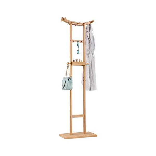 Langria Crescent Metal Coat Rack Clothes Stand Hat Handbag Hanger