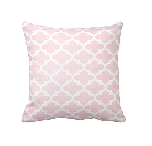 ZonaloDutt Blush Pink Kissenbezug Pink Throw Pillow Cover Marokkanische Kissen Dekorative Kissen Pink Nursery Decor 18 x 18 Zoll 45 x 45 cm Kissen 18 x 18 Kissen Kissen (Dekorative Kissen Pink)