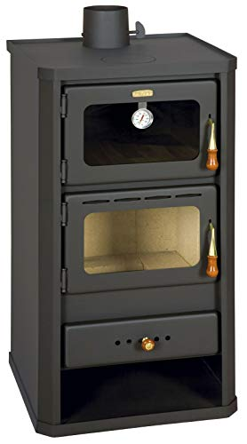 Prity FM estufa de leña de 12 kW con quemador de leña...