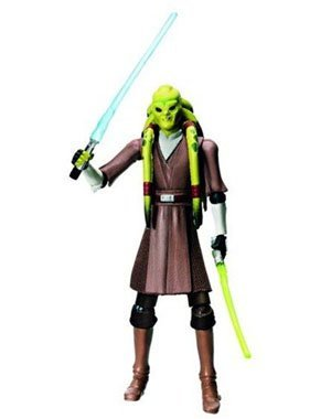 Jedi Master Kit Fisto with 2 Lightsaber CW23 Star Wars The Clone Wars Collection Hasbro