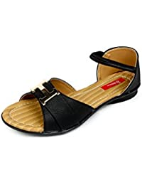 Finesse Women's Designer Casual PU Smart Flat Sandals