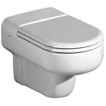 Keramag Courreges 5727000001L-Sitz weiß, mit Scharnieren, verchromt