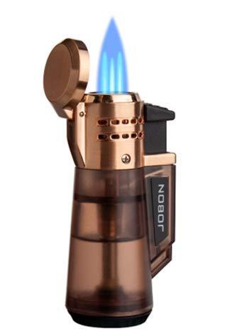 Sedux Gasfeuerzeug Bowl Sturmfeuerzeug mit 3 Jet Flammen Nachfüllbares Gas Feuerzeug mit Geschenkbox