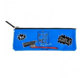 Derrière la porte D060-P040115 - Estuche para cepillo de dientes, color azul