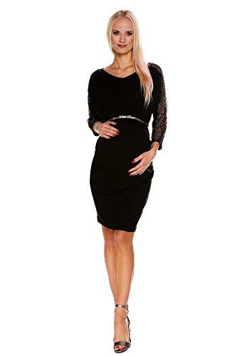 My Tummy Vestido Premamá Camille Elegante Chic Fiesta Negro L (Large)