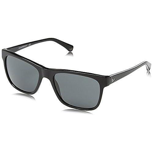 Emporio Armani Armani Unisex Sonnenbrille EA4060, Gr. Large (Herstellergröße: 56), Schwarz (black 50178G)