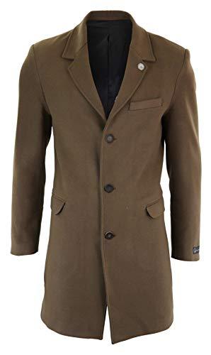 TruClothing.com Herrenjacke 3/4 Länge Winter Herbst Mantel Peaky Blinders Design Slim Fit