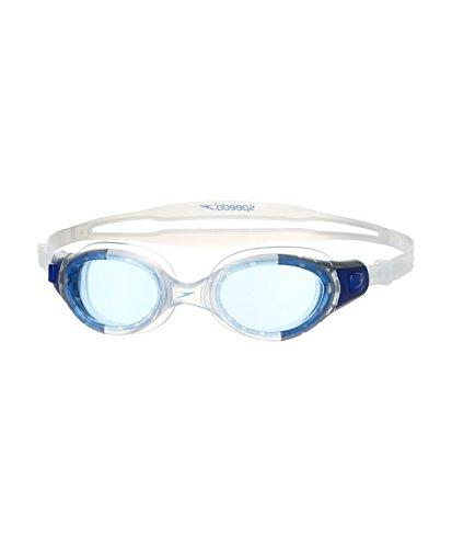 Speedo Brille Futura Biofuse transparent und blau Schwimmbrille one size Trasparente/New Surf
