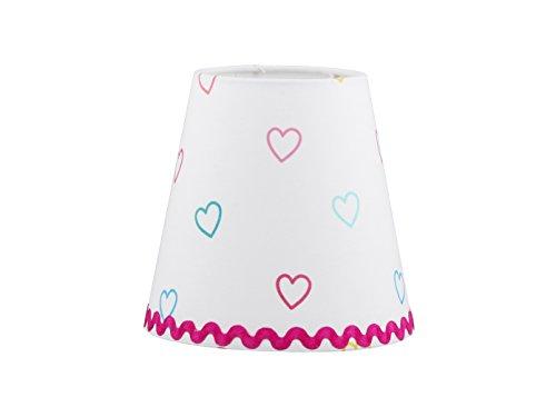 Kinder Kronleuchter / Lüster weiß, bunten Stoffschirmchen in verschiedenen Designs, Lief! 12031Set - 6