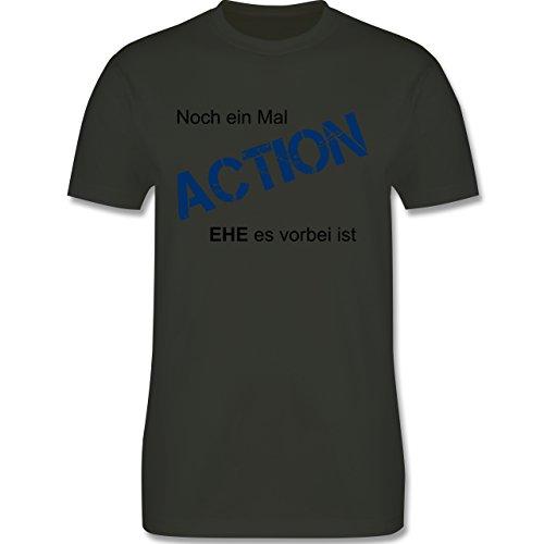 JGA Junggesellenabschied - Noch einmal Action EHE es vorbei ist - Herren Premium T-Shirt Army Grün
