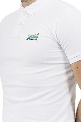 Superdry Herren Poloshirt Bianco (Optic White)