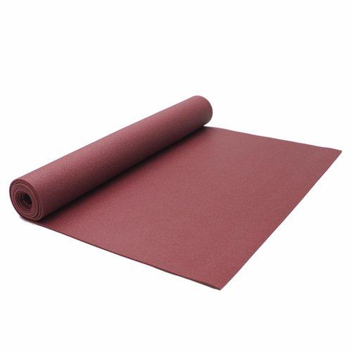 Lotus Design, Yogamatte – STANDARD, 183 x 60 cm - Bordeaux, Oberfläche extrem rutschfest - Öko Tex - Studiomatte ideal für Hot Yoga & Ashtanga Yoga Pilates Gymnastikmatte