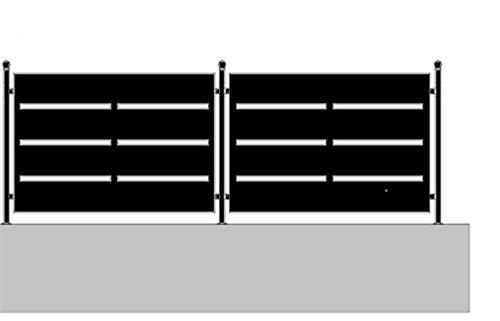 metallog Pannello in Ferro per Recinzione Incluso piantane Serie Spia (H100XL145)