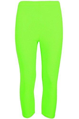 Pour femme Longueur 3/4 en coton femme-Collant Stretch Collant court pour entraînement de gymnastique/YOGA Corsaire de vélo Vert - Vert fluorescent