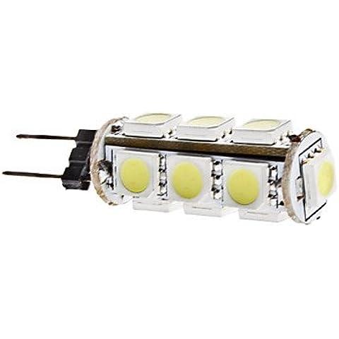 YangR* G4 2W 13x5050 SMD 160-180LM 6000-6500K LED Lámpara de maíz blanco natural (12V).
