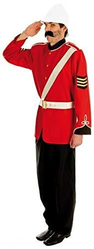 Fancy Me Herren Boer Krieg Historisch Militär Armee Soldaten BRITISCHE STREITKRÄFTE Kostüm Kleid Outfit - Rot, - Britische Militär Kostüm