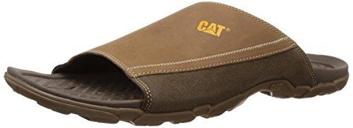 Cat Men's Ginza Slide II I4I Toast Leather HawaII Thong Sandals - 7 UK