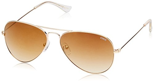 IDEE Mirrored Aviator Unisex Sunglasses - (IDS2001C10SG |58|Gold Mirror lens) image
