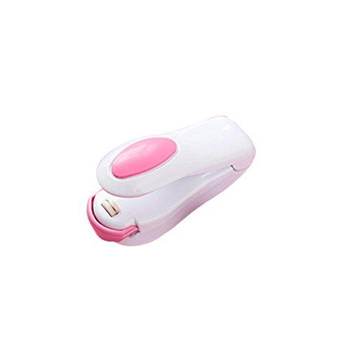 VORCOOL Mini máquina de sellado térmico Selladora de impulsos Sellado de bolsas de plástico (blanco)