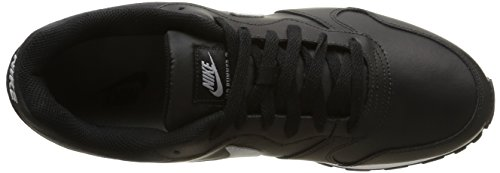 Nike Md Runner 2 Leather, Chaussures de Sport Homme multicolore (Black/Wolf Grey)