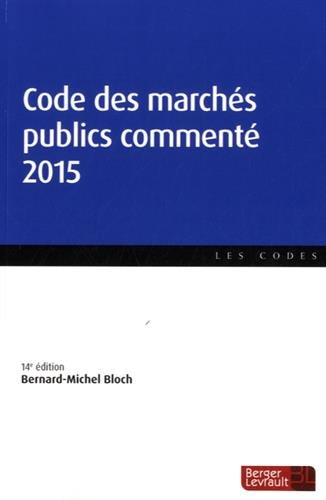 Code des marchés publics commenté 2015
