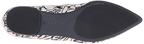 Nine West Onlee Toe Pointy synthétique plat Off White/Black Synthetic