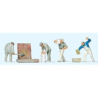 Preiser 10654 Bauarbeiter beim Verputzen, H0 1:87