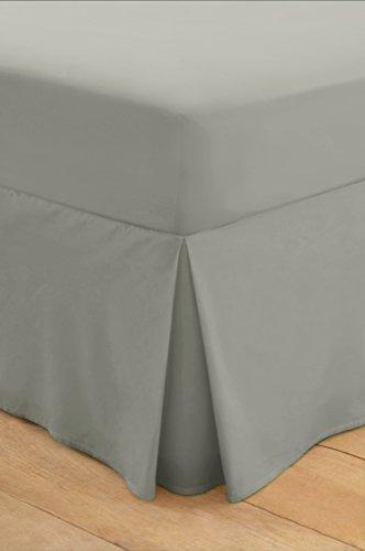 100% ägyptische Baumwolle, weich, Bettvolant, Rock, Matratzenauflage, 200 TC Super King Fitted Valance grau